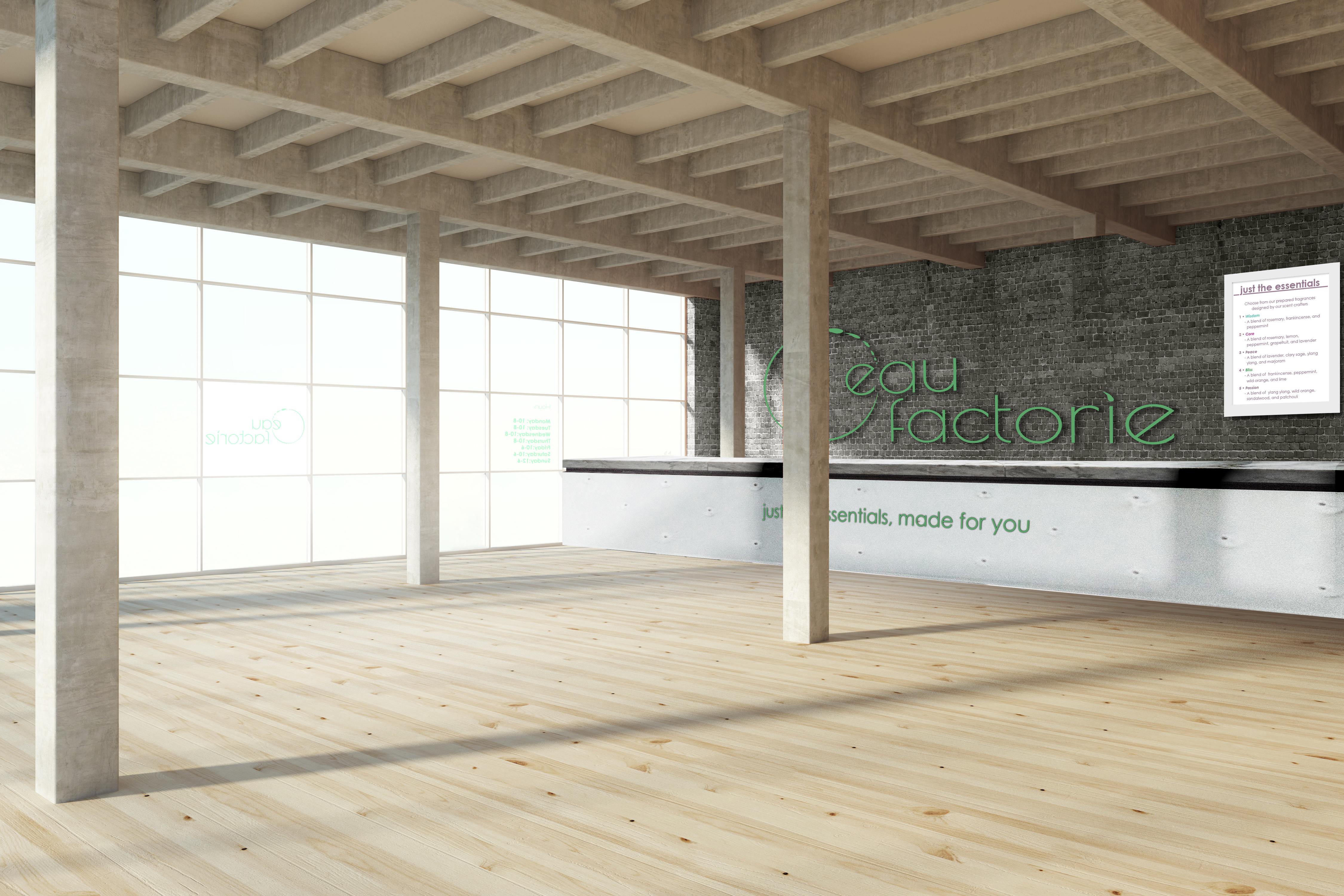 Modern wooden interior